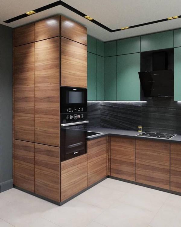 Кухня из пластика Феникс №119