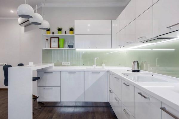 Кухня из крашеного МДФ №33