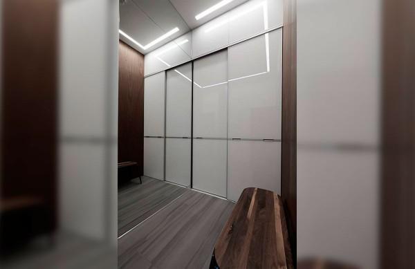 Встроенный шкаф-купе № 116