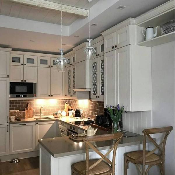 Кухня из крашеного МДФ №70