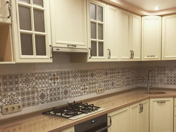 Кухня из крашеного МДФ №65