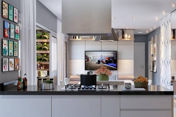 Кухня из пластика №124