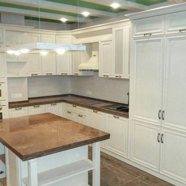 Кухня из крашеного МДФ №53