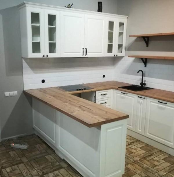 Кухня из крашеного МДФ №47