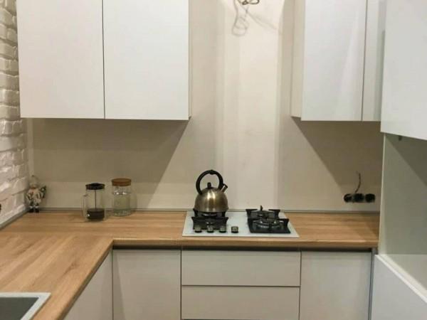 Кухня из крашеного МДФ №48