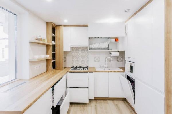 Кухня из крашеного МДФ №49