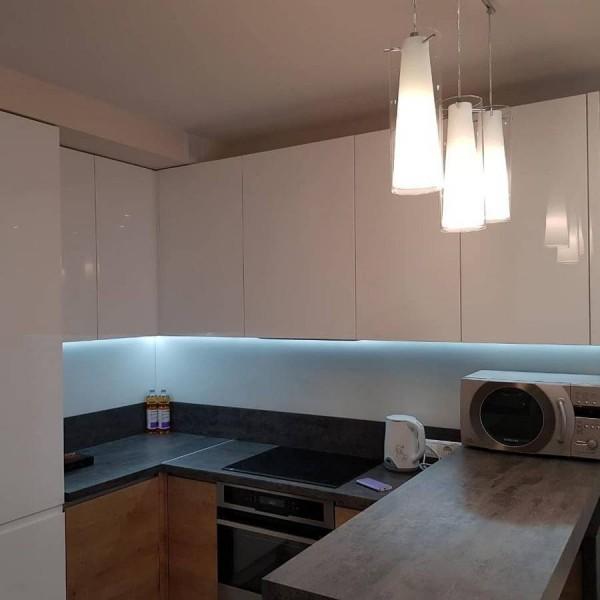 Кухня из крашеного МДФ №71