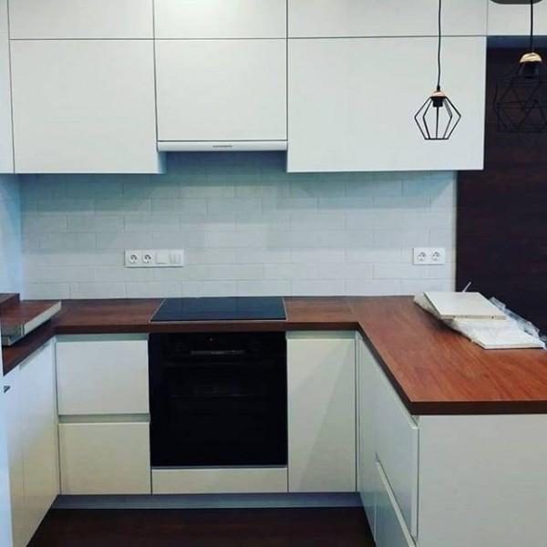 Кухня из крашеного МДФ №52