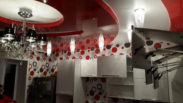 Кухня из пластика №128