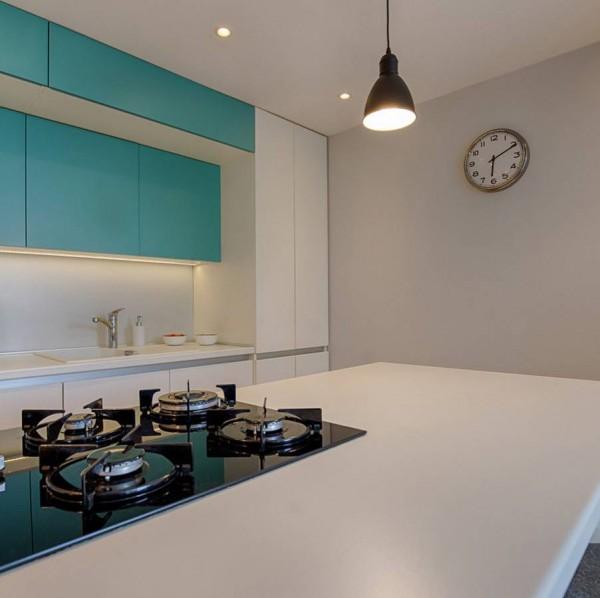 Кухня из крашеного МДФ №55