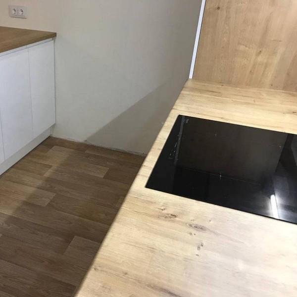 Кухня из крашеного МДФ №36