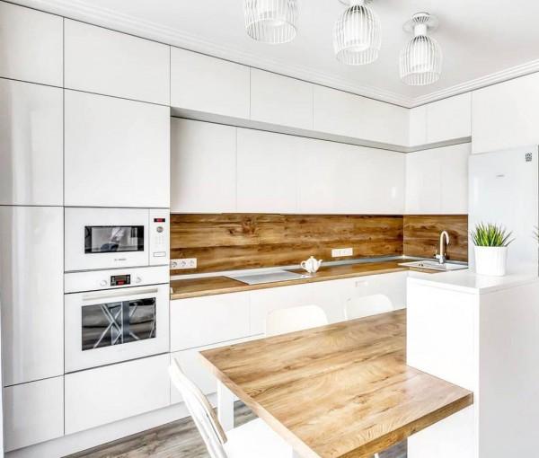 Кухня из крашеного МДФ №66
